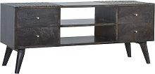 Artisan Furniture Solid Mango Wood Ash Black 4