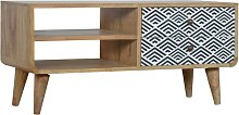 Artisan Furniture Solid Mango Wood Black And White
