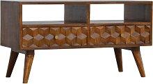 Artisan Furniture Solid Mango Wood - Chestnut Cube