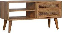 Artisan Furniture Solid Mango Wood Ratten TV Media