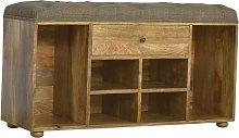 Artisan Furniture Solid Mango Wood Shoe Storage
