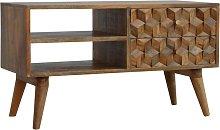 Artisan Furniture Solid Mango Wood - Tile Carving