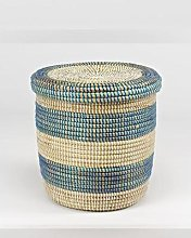 Artisanne - Small Storage Basket With Lid - Mint