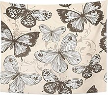 Artistic Black Anniversary with Butterflies Word