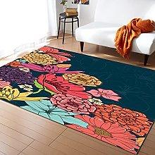Artistic Flowers Carpet for Living Room Home