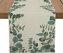 Artoid Mode Eucalyptus Leaves Table Runner,