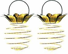 ARTSTORE 2 Packs 24 LEDs Pineapple Shape Solar