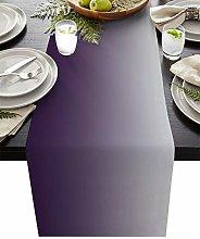 Artwork Store Purple Cotton Linen Table Runner