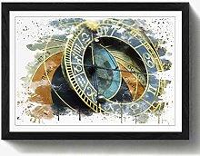 Arty Pie Framed Print Black A2 (24.5x18 Inch)