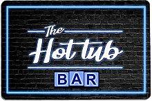 Artylicious The Hot Tub Bar blue neon bar Wall art