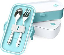 aRVe Bento Lunch Box with Stainless Steel Cutlery