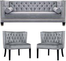 Arwen 3 Piece Sofa Set BelleFierté Upholstery