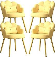 ARWQ857 Metal Legs Dining Chairs Set Of 4,Modern