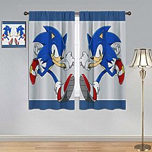 ARYAGO Bedroom Blackout Curtains Sonic The