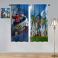 ARYAGO Black Out Curtains Sonic the Hedgehog