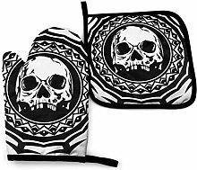 Asa Dutt528251 Abstract Black And White Skull Oven