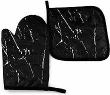 Asa Dutt528251 Black And White Marble Oven Mitts