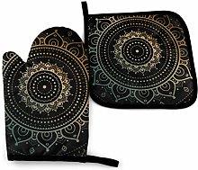 Asa Dutt528251 Black Ethnic Golden Mandala Oven