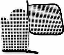 Asa Dutt528251 Black White Checkered Lattice Oven