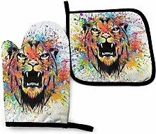 Asa Dutt528251 Colorful Tiger Head On Black