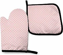 Asa Dutt528251 Pink Dots Oven Mitts and Potholders