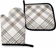 Asa Dutt528251 Plaid Cream Beige Brown Gray Pillow