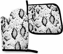 Asa Dutt528251 Snake Skin Black Animal Oven Mitts