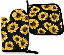 Asa Dutt528251 Sunflower On Black Sunflower Oven