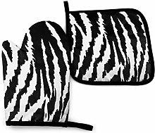 Asa Dutt528251 Tiger Black White Animal Oven Mitts