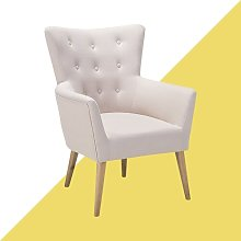 Asa Wingback Chair Hashtag Home Upholstery Colour: