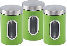 ASAB 3pc Canister Set Stainless Steel Tea Sugar