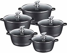 ASAB Die-Cast Ceramic Non Stick 5PC Stockpot Pan