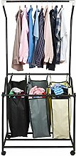 ASAB Heavy Duty Laundry Basket Trolley Hamper Cart