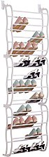 ASAB - Over Door White Shoe Rack Organiser - 12