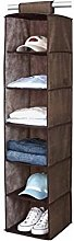 ASC 6 Section Hanging Wardrobe Storage Shelfs