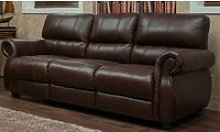 Ascot 3 Seater Leather Sofa Chestnut Or Dark Brown