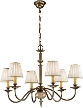 Ascot 8 Light Candle Chandelier Kolarz