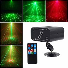 ASDAD 48 Patterns Green Red Projector Light Home