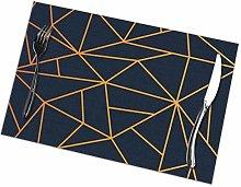 asdew987 Modern Geometric Mosaic Wallpaper Gold