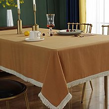 ASDEWQ Ginger Retro Tablecloth,White Fringed Lace