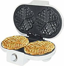 ASDF Heart Waffle Maker with, Non-stick pan, easy