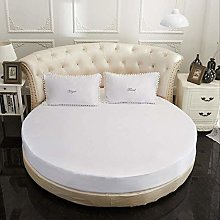 ASDFF Mattress cover Round Fitted Sheet Romantic
