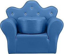 ASDFGHT Child sofa PVC Leather Sofa Princess Mini