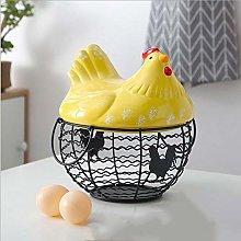Asdfghur5 Chicken Shape Ceramics Metal Egg