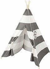 Asdomo 4pcs Wooden Poles Teepee Tent for Kids Gray