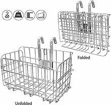 ASEOK Folding Rear Bike Basket Wire Mesh Fold-Up