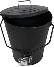 Ash Bucket Black Coal Scuttle Vintage Style