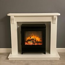 Ashby Electric Fireplace Fire Heater Heating Real