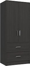 Ashdown 2 Door 2 Drawer Wardrobe - Dark Grey