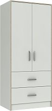 Ashdown 2 Door 2 Drawer Wardrobe - White